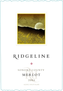 The 2004 Merlot From Ridgeline Was Produced Fruit Sourced In Several Prime Sonoma Vineyard Sources Alexander Valley And Mountain Amongst Them